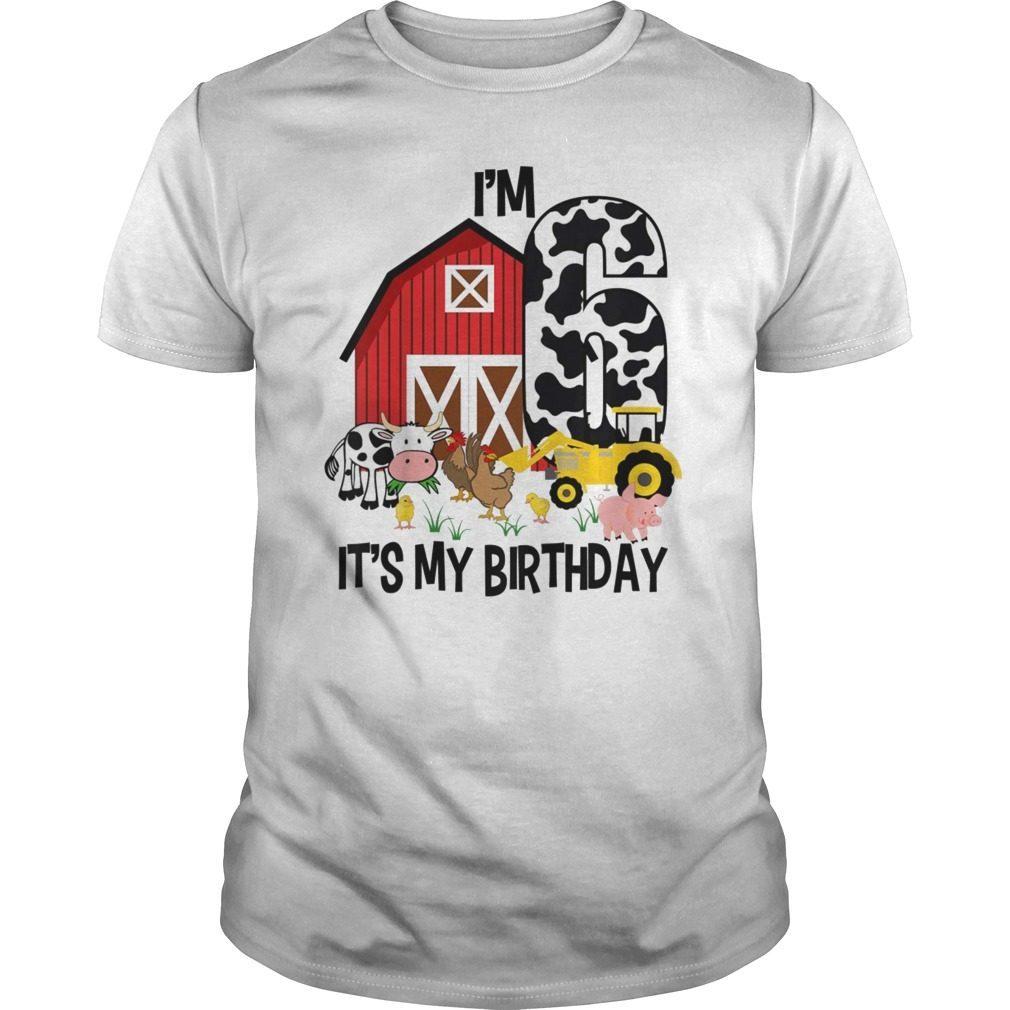 Kids Its My Birthday Im 6 Tractor Years Old Shirt