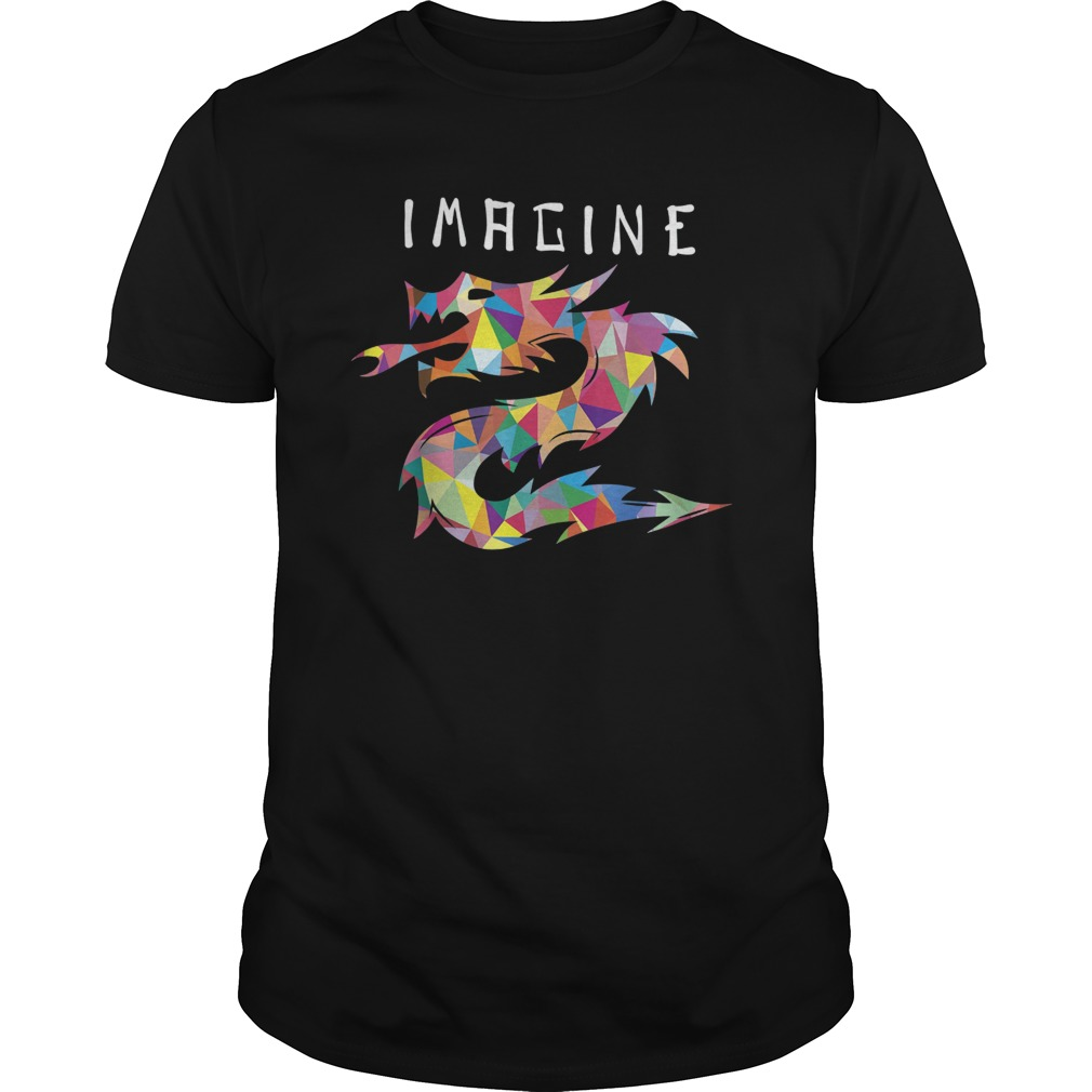 Imagine Fantasy Dragon Tattoo Style T Shirt Hoodie Tank Top Quotes