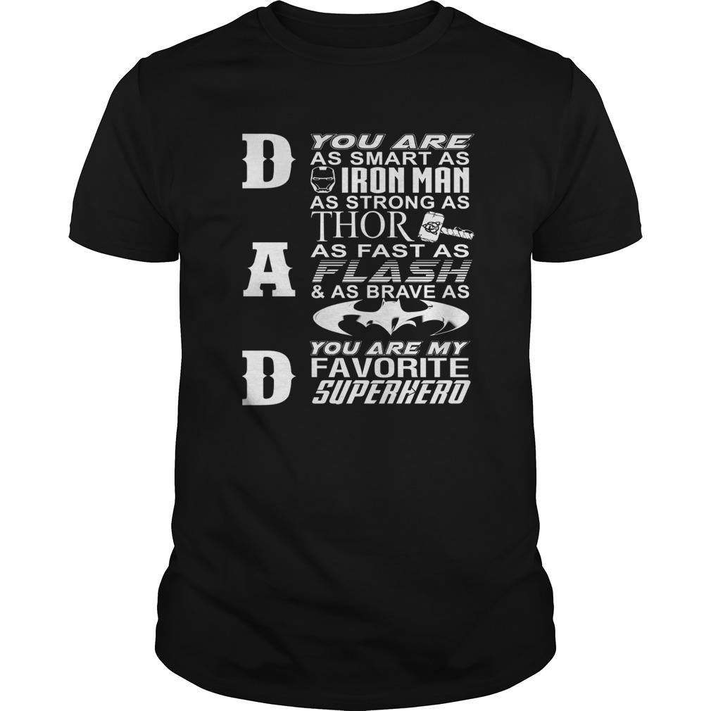 e463e519ed Dad You Are My Favorite Superhero Gift TShirt For Father's Day ...