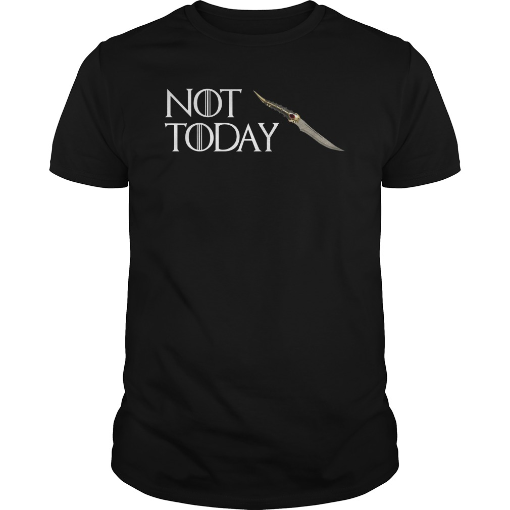 b7e74656 Not Today GOT Arya Cool Shirt Hoodie Tank-Top Quotes