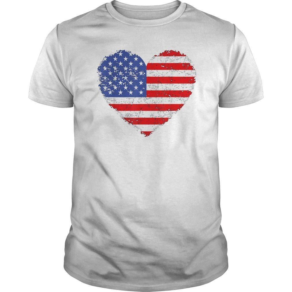 61802c6a9db6 USA Flag Heart T Shirt 4th July Red White Blue Stars Stripes Hoodie ...