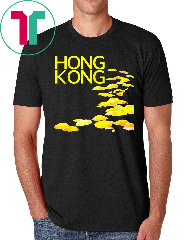 Hong Kong Yellow Umbrellas Shirt Hoodie Tank-Top Quotes