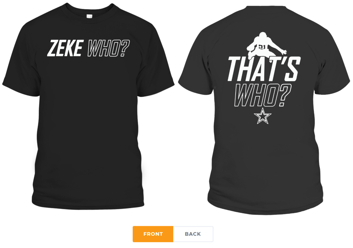 best service 2a5af 6d9f1 Zeke Who Dallas Cowboys Tee Shirt